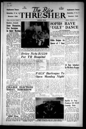 The Rice Thresher (Houston, Tex.), Vol. 44, No. 21, Ed. 1 Friday, March 8, 1957