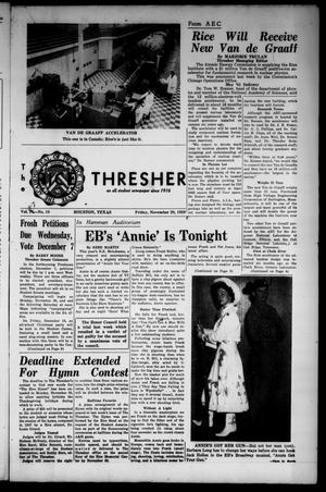 The Rice Thresher (Houston, Tex.), Vol. 47, No. 10, Ed. 1 Friday, November 20, 1959