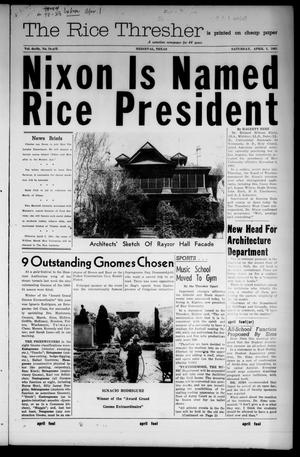 Primary view of object titled 'The Rice Thresher (Houston, Tex.), Vol. 48, No. 23, Ed. 1 Friday, March 24, 1961'.