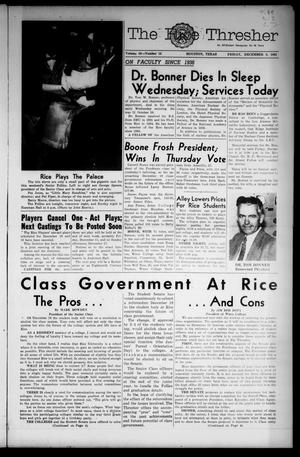The Rice Thresher (Houston, Tex.), Vol. 49, No. 12, Ed. 1 Friday, December 8, 1961