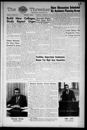 The Rice Thresher (Houston, Tex.), Vol. 50, No. 22, Ed. 1 Wednesday, March 27, 1963