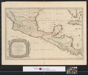 Primary view of Mexicque, ou Nouvelle Espagne, Nouvlle Gallice, Iucatan &c. : et autres provinces jusques a l'Isthme de Panama, ou sont les Audiences de Mexico, de Guadalaiara, et de Guatimala.