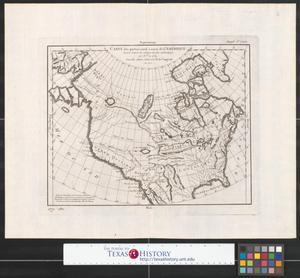 Primary view of Carte des parties nord et ouest de L'Amérique.