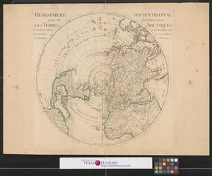 Primary view of Hemisphere septentrionale pour voir plus distinctement les terres arctiques.