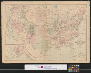 Primary view of object titled 'Asher & Adams' United States and territories.'.