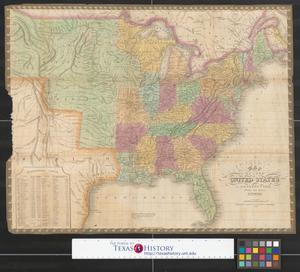 Primary view of Map of the United States constructed from the latest authorities.