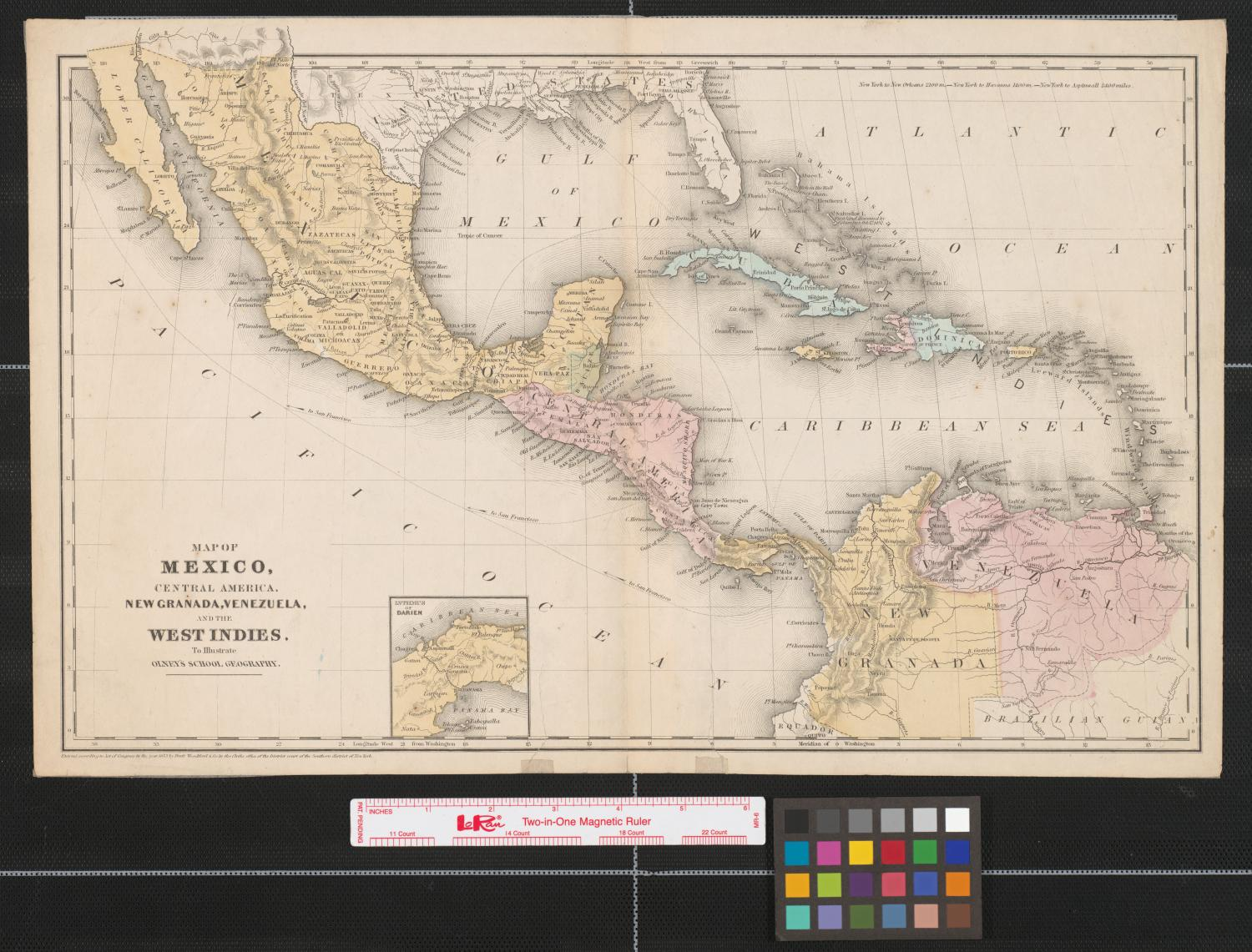 Political Map Of Central America And The Caribbean%0A River Map Of Mexico Map of Mexico Central America New Granada Venezuela and  the West Indies
