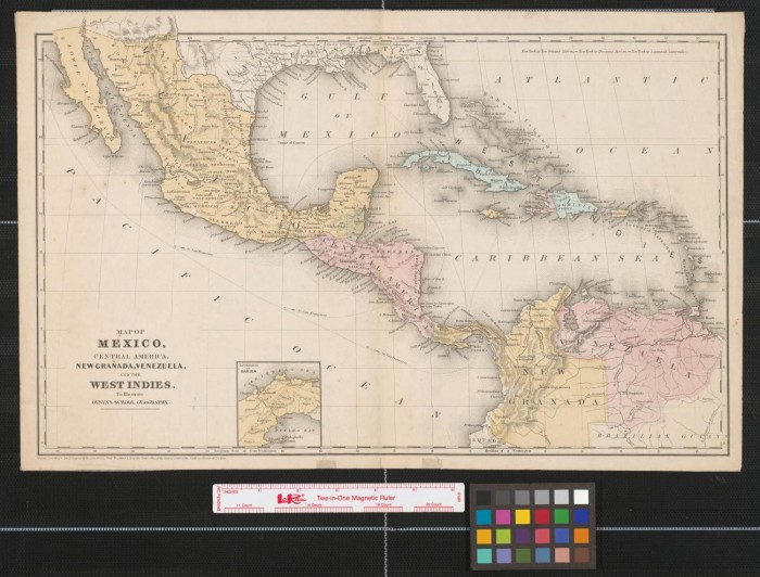 Map Of Mexico Central America New Granada Venezuela And The West Ins To Ilrate Olney S School Geography