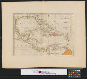 Primary view of A chart of the West Indies, from the latest marine journals and surveys.