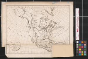 Primary view of Carte du continent de l'Amérique nord: pour servir à l'intelligence du système des vents et des courans.