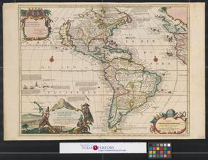 Primary view of L'Amerique meridionale et septentrionale : dressée selon les dernieres relations et suivant les nouvelles decouvertes dont les points principaux sont placez sur les observations de Mss. de l'Academie Royale des Sciences.