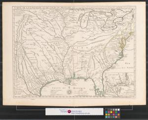 Primary view of Carte de la Louisiane et du cours du Mississipi