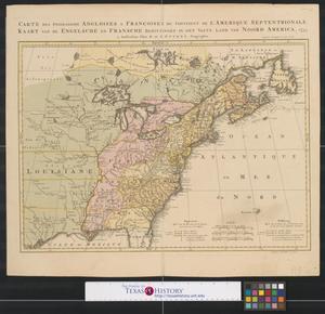 Primary view of Possessions angloises & francaises du continent de l'Amérique septentrionale.