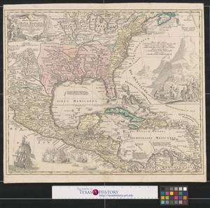 Primary view of Regni Mexicani seu Novæ Hispaniae, Ludovicianae, N. Angliae, Carolinae, Virginiae, Pensylvaniae, necnon insularum archipelagi Mexicani in America Septentrionali.