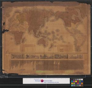 Primary view of A chart of the world, exhibiting the prevailing religion and population of the present empires, kingdoms and states: also the principal missionary stations throughout the globe; [and] a chart exhibiting the progress of Christianity from the birth of our Saviour to the present time.
