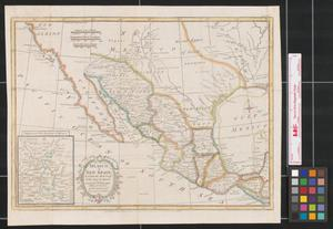 Primary view of Mexico or New Spain : in which the motions of Cortes may be traced.