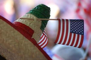 [American flag on sombrero]