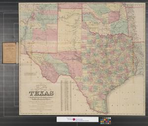 Primary view of object titled 'Colton's new map of the state of Texas : The Indian territory and adjoining portions of New Mexico, Louisiana and Arkansas.'.
