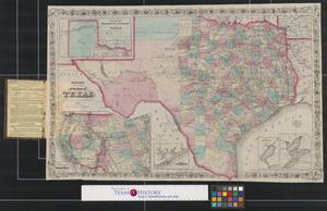 Primary view of object titled 'Colton's new map of the state of Texas.'.