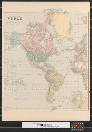 A chart of the world on mercators projection shewing the principal thumbnail image of item number 1 in a chart of the world on mercators gumiabroncs Image collections