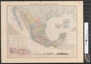 Primary view of Mapa general de la República de Méjico.
