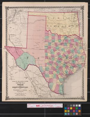 Primary view of object titled 'County map of Texas, and Indian Territory.'.