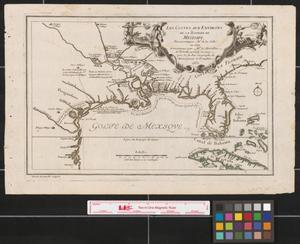 Primary view of Les costes aux environs de la riviere de Misisipi : decouvertes par Mr. de la Salle en 1683 et reconnues par Mr. le Chevallier d'Iberville en 1698 et 1699.