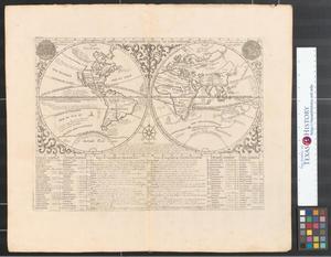 Primary view of Mappemonde ou description generale du globe terrestre.