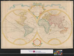 Primary view of Mappe-monde dressé sur les observations de mrs. de l'Academie royale des Sciences et quelques autres et sur les memoires les plus recens à son Altesse Royale Monseigneur le Duc de Chartres.