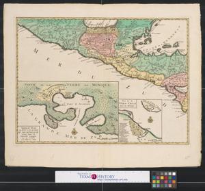 Primary view of Grand theatre de la guerre en amerique suivant les plus nouvelles observations des Espagnols, Anglois, Francoise & Hollandois [Sheet 4].