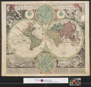Primary view of Planiglobii terrestris cum utroq hemisphærio cælesti generalis exhibitio: quam ex novissimis probatissinnisque recentium geographorum scriptis concinnatam, multisq phænomenis illustratam.