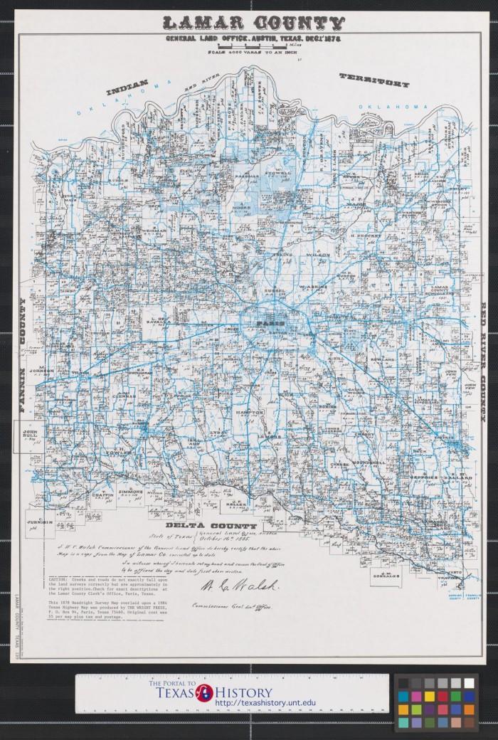 Lamar County Texas The Portal To Texas History