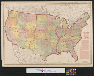 Primary view of object titled 'Rand McNally new commercial atlas map of the United States : freight rate increase.'.