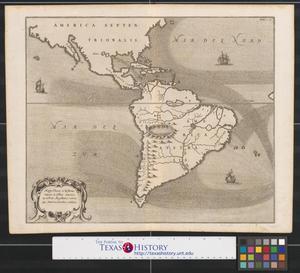Primary view of Mappa fluxus et refluxus rationes in isthmo America