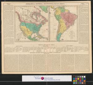 Primary view of Geographical, historical, and statistical map of America.