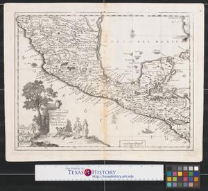 Primary view of Carta geografica del Messico: o sia della Nuova Spagna.