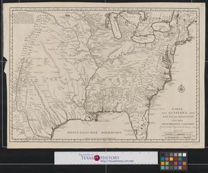 Primary view of Karte von Luisiana: dem laufe des Mississipi und den benachbarten laendern.