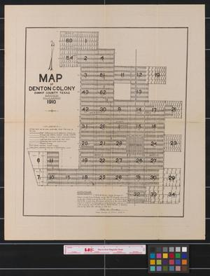 Primary view of object titled 'Map of Denton Colony Dimmit County Texas.'.