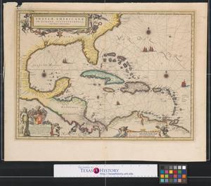 Primary view of Insulae Americanae in oceano septentrionali cum terris adiacentibus.