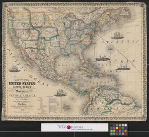 Map of the United States Canada Mexico and the West Indies with