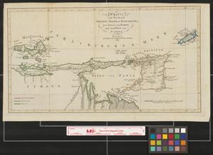 Primary view of Charte von den inseln Trinidad, Tobago und Margaretha, dem Busen von Paria, und einem Theile vom Cumana.