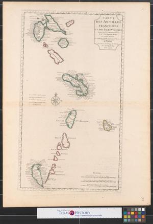 Primary view of Carte des Antilles Françoises et des iles voisines.