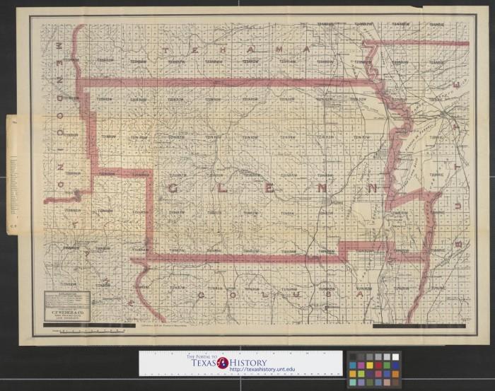 Glenn County California Map.Weber S Map Of Glenn County California Showing Towns Steam And