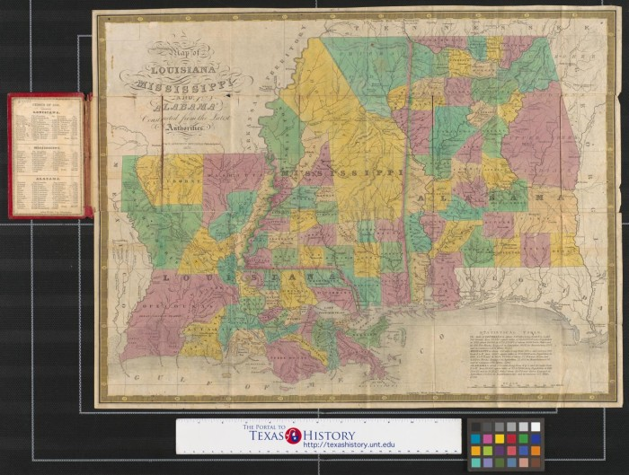 Map Of Texas Louisiana And Mississippi.Map Of Louisiana Mississippi And Alabama Constructed From The