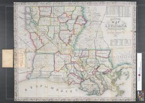 Primary view of object titled 'New and improved map of Louisiana.'.