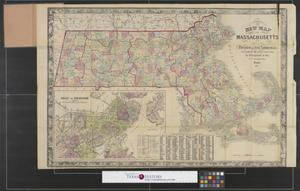 Primary view of object titled 'New map of Massachusetts : compiled from the latest and best authorities.'.
