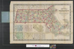 Primary view of New map of Massachusetts : compiled from the latest and best authorities.