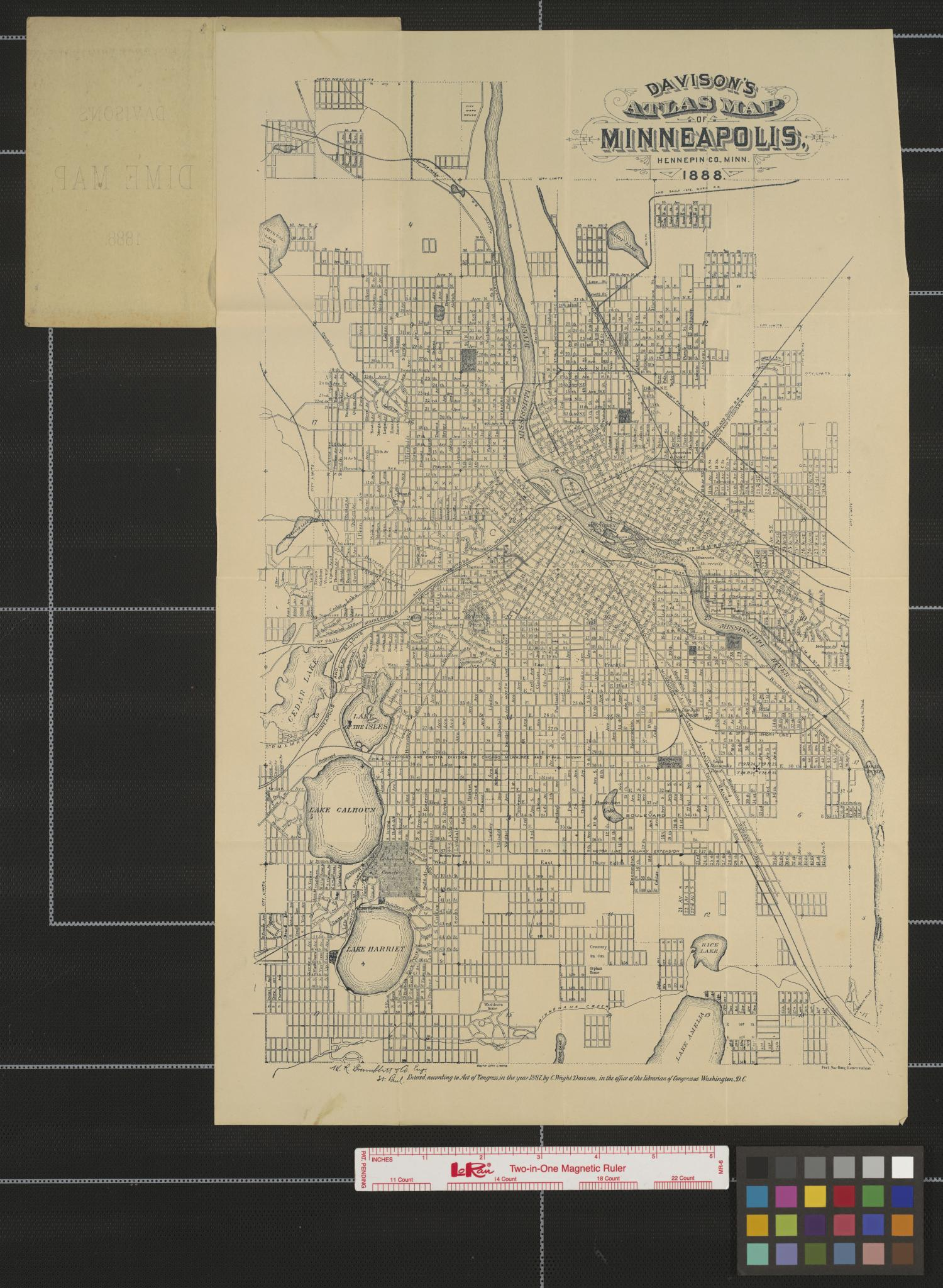 Davison's atlas map of Minneapolis, Hennepin Co., Minn., 1888.                                                                                                      [Sequence #]: 1 of 2