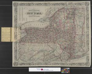 Primary view of object titled 'Colton's railroad & township map of the State of New York :with parts of the adjoining states & Canada'.