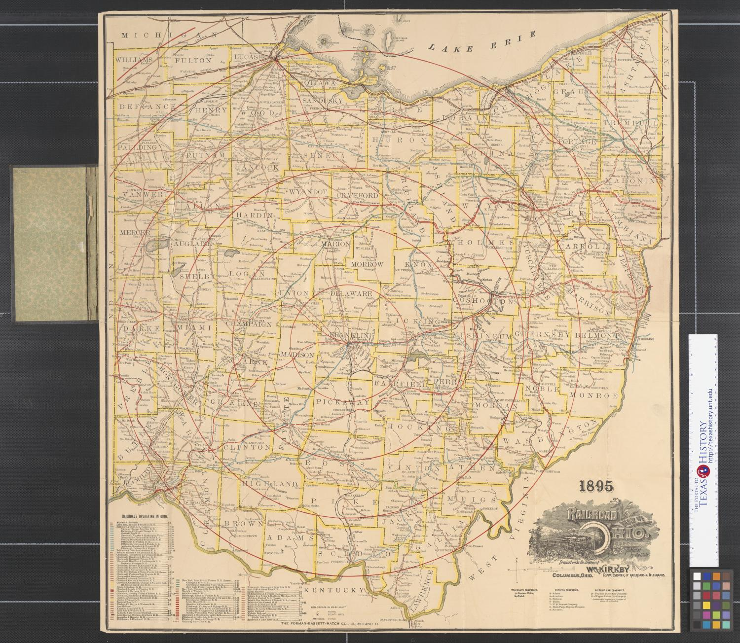 1895 railroad map of Ohio.                                                                                                      [Sequence #]: 1 of 2